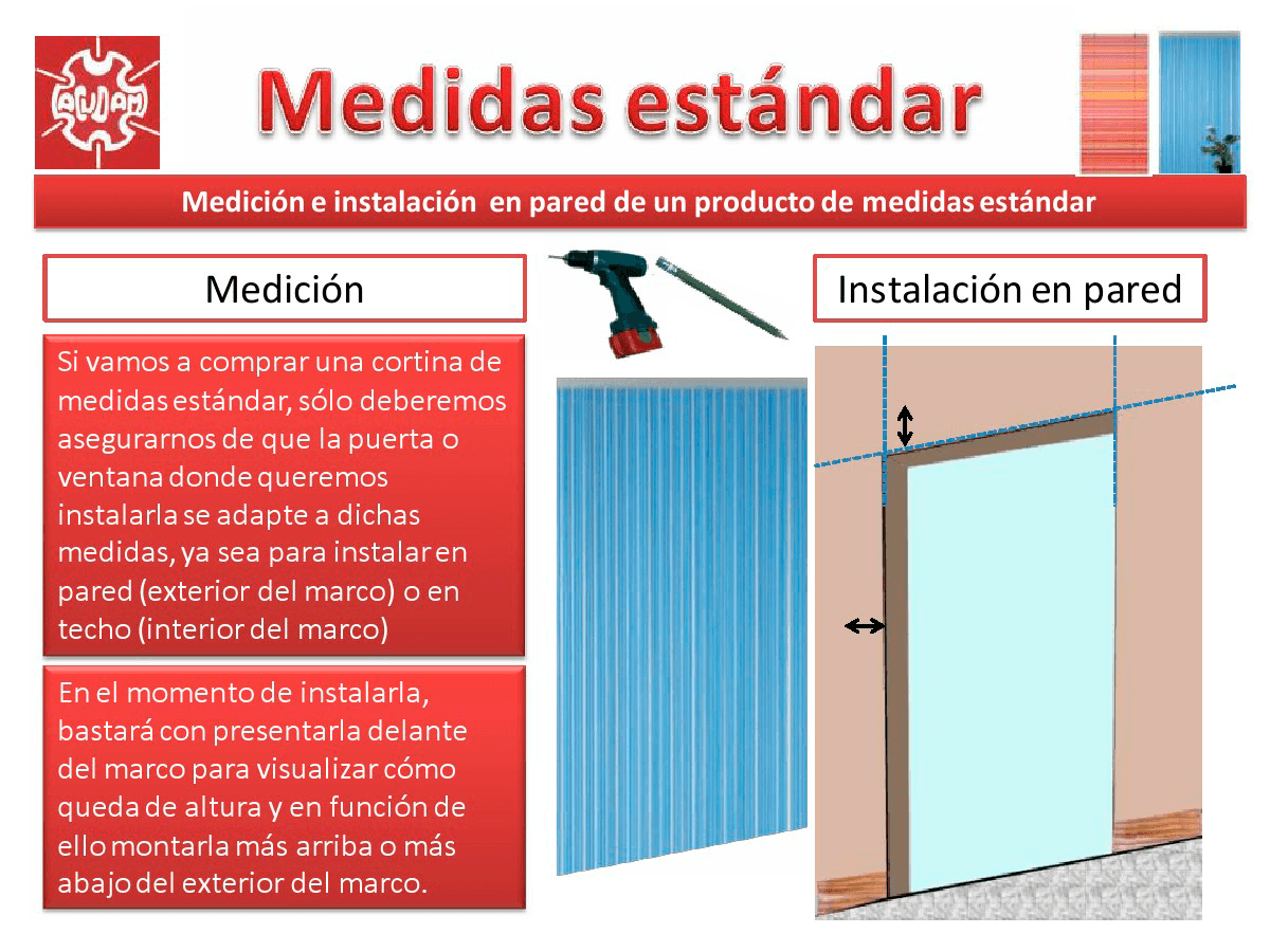Medir e instalar cortinas y estores acudam - Estores medidas estandar ...